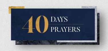 40 Days/40 Prayers